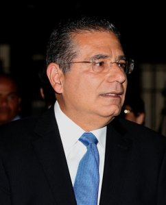 In this June 26, 2014 photo, lawyer and author Ramon Fonseca is seen during an event in Panama City. Fonseca is one of the two  Panamanian lawyers at the center of a scandal on the financial dealings of the world's rich and famous as a result of the leak of 11.5 million records being pored over by an international coalition of more than 100 media outlets. (AP Photo)