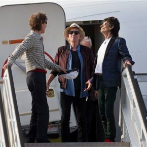 The Rolling Stones arrive in Cuba for historicconcert