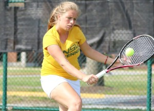 Sophomore Dajana Cvjetkovic of the Norfolk State women's tennis team was honored by the conference office on Wednesday morning when she was named the MEAC Player of the Week.