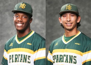 Norfolk State outfielder Denathan Dukes and right hander Jonathan Mauricio were named the MEAC Player and Pitcher of the Week, respectively, by the conference office on Monday.