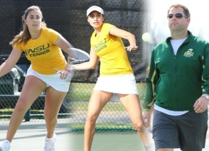 Freshman Marta Gomar of the Norfolk State women's tennis team was named the MEAC Rookie of the Year on Tuesday morning when the conference office announced its postseason awards. In addition, head coach Worth Richardson was named the MEAC Coach of the Year, while senior Andrea Macchiavello earned a second-team all-conference nod. Photo from NSUSpartans.com.