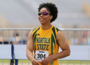 Norfolk State track and field senior Kiara Howell was named the MEAC Women's Field Athlete of the Week by the conference office on Wednesday