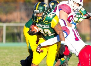 Larry Bishop rushed for two touchdowns, including the winning 1-yard plunge on the final possession of the scrimmage, to lead the offense over the defense, 33-30, in the annual Norfolk State Green & Gold Game on Saturday at Dick Price Stadium.