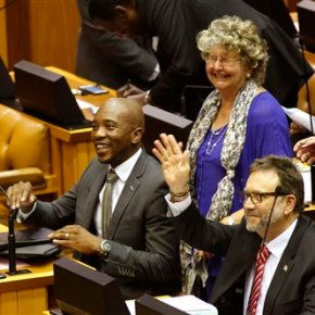 South African parliament debates motion against president