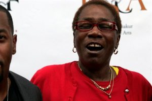 FILE - In this June 16, 2011 file photo, Afeni Shakur, mother of the late Tupac Shakur, attends the 2Pac 40th Birthday Concert Celebration in Atlanta.  Afeni Shakur has died. She was 69 years old. The Marin County, California, Sheriff's Department confirmed her death.  .(AP Photo/ Ron Harris)