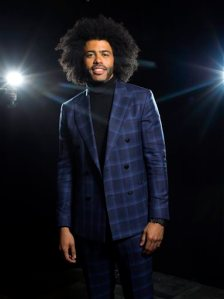 """In this May 12, 2016 photo, Tony Award nominee Daveed Diggs in New York. Diggs, 34, plays both Thomas Jefferson and Marquis de Lafayette in the Broadway hit, """"Hamilton."""" (Photo by Scott Gries/Invision/AP)"""