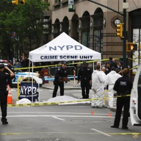 NY police: Belligerent, knife-wielding man killed byofficer