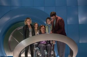 "In this image released by Twentieth Century Fox,  Jennifer Lawrence, from left, Rose Byrne, James McAvoy, Lucas Till and Nicholas Hoult appear in a scene from, ""X-Men: Apocalypse."" (Alan Markfield/Twentieth Century Fox via AP)"