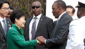Kenya president meets South Korean president for tradetalks