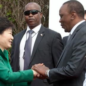 Kenya president meets South Korean president for trade talks