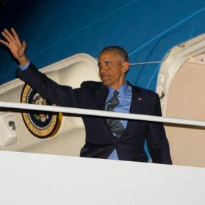 The Latest: Obama greets Sanders at the White House