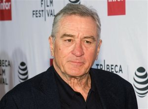 """FILE - In this April 21, 2016 file photo, Robert De Niro attends a special 40th anniversary screening of """"Taxi Driver"""" during the 2016 Tribeca Film Festival in New York. De Niro will co-direct a Broadway musical version of the film, """"A Bronx Tale."""" The show will start performances Nov. 3 at the Longacre Theatre. (Photo by Charles Sykes/Invision/AP, File)"""