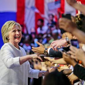Clinton claims historic victory in Democratic primary