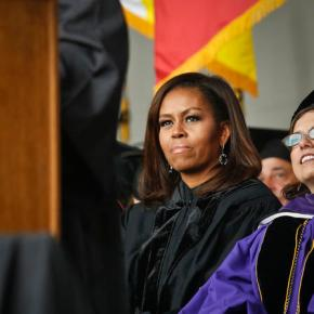 Michelle Obama praises diverse grads in commencement speech