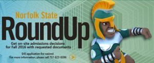 """It's still not too late to be a part of the growing Spartan family. The Office of Admissions will host two """"Round Up"""" events for prospective students on June 7 and July 12. For more information about Norfolk State University programs, visit http://www.nsu.edu/enrollment-management/admissions/index."""