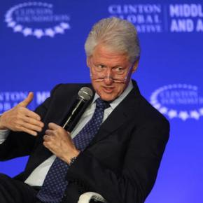 An emotional Bill Clinton eyes possible exit from foundation