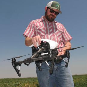 In drought, drones help California farmers save every drop