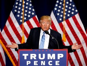 Republican presidential candidate Donald Trump speaks during a campaign rally at the Phoenix Convention Center, Wednesday, Aug. 31, 2016, in Phoenix. (AP Photo/Ross D. Franklin)