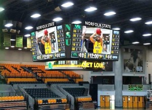 Norfolk State has partnered with Daktronics, Inc., to design, manufacture and install a state-of-the-art, four-sided high-definition video board display at Joseph G. Echols Memorial Hall this fall.