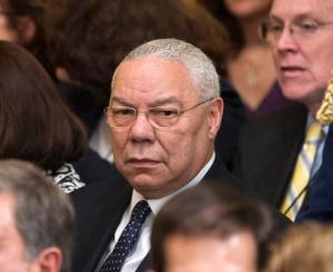 In this May 31, 2012 file photo, former Secretary of State Colin Powell is seen in the East Room of the White House in Washington. A Romanian hacker who targeted the Bush family, Powell and others is expected to get a prison sentence of at least two years. Forty-four-year-old Marcel Lazar, better known as Guccifer, is scheduled for a sentencing hearing Thursday, Sept. 1, 2016, in federal court in Alexandria, Va.  (AP Photo/Pablo Martinez Monsivais, File)