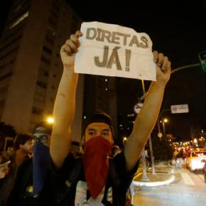 Brazilian police clash with protesters rejecting newleader