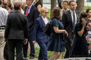 Clinton feels good, says she didn't pass out duringstumble