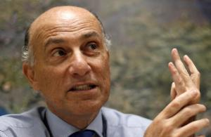 FILE - In this April 22, 2015, file photo, Sidney Levy speaks during an interview, in Rio de Janeiro, Brazil. The CEO of the Rio Olympics says his privately funded operating budget will need just under $30 million in public funding to meet its obligations. Chief executive officer Sidney Levy had pledged that only private money would be used to run the games, though that promise was broken just over a month ago when the committee requested a bailout from the city of Rio de Janeiro and the federal government. (AP Photo/Silvia Izquierdo, File)