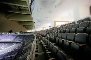 A view of the renovated suites at the Mercedes-Benz Superdome suites, home the New Orleans Saints NFL football team, Tuesday, Aug. 30, 2016, in New Orleans. (David Grunfeld/NOLA.com The Times-Picayune via AP)