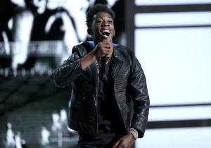 """FILE - In this June 26, 2016 file photo, Desiigner performs at the BET Awards in Los Angeles. Authorities say the rapper has been arrested for brandishing a handgun at another motorist and having drugs in a car. Police said Friday, Sept. 9, that the """"Panda"""" performer was pulled over Thursday night in midtown Manhattan following a road rage dispute in the Lincoln Tunnel. (Photo by Matt Sayles/Invision/AP, File)"""