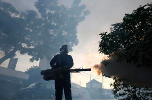 FILE - In this Wednesday, Sept. 14, 2016 file photo, a worker from the Ministry of Health sprays mosquito insecticide fog in Kuala Lumpur, Malaysia, a day after two new Zika virus infection cases were detected in the country. On Thursday, Sept. 29, 2016, U.S. health officials are advising pregnant women to postpone travel to 11 countries in Southeast Asia because of Zika outbreaks in the region. The advisory targets travel to Brunei, Cambodia, East Timor, Indonesia, Laos, Malaysia, the Maldives, Myanmar, the Philippines, Thailand and Vietnam. (AP Photo/Joshua Paul)