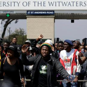 South African official blames students for worker's death