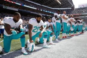 Dolphins' national anthem protest 'a disgrace'