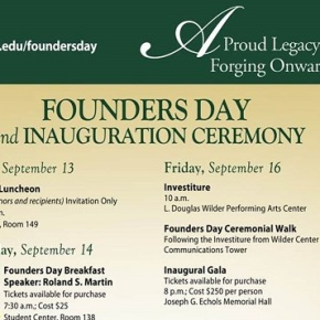 Founders Day events start Sept. 13 and last through Sept. 18