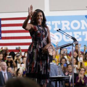 Michelle Obama featured in Clinton TVad