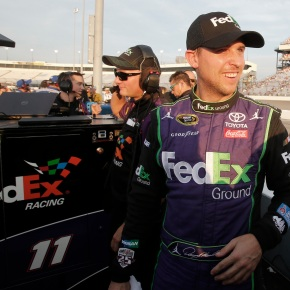 Hamlin finally wins a pole; will start first at Richmond