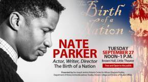 Nate Parker on campus Tuesday, Sept. 27