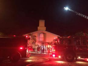 Adds that fire happened on first day of Eid al-Adha and three-month anniversary of Orlandoshooting.