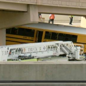 Driver killed, 18 hurt in Denver airport school buscrash
