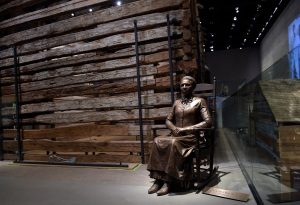 A statue of pioneer Clara Brown, who was born a slave in Virginia around 1800, is on display at the National Museum of African American History and Culture in Washington, Wednesday, Sept. 14, 2016. Brown travelled to Colorado, after she was freed when her slaveowner died in 1856, where she established a successful laundry business. (AP Photo/Susan Walsh)