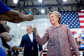 Clinton pressing Republicans to take stand onTrump