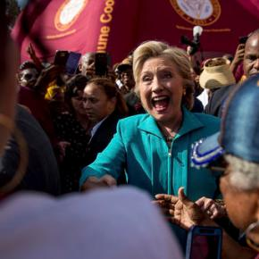 Clinton joins Lopez, urges voters to 'get loud'