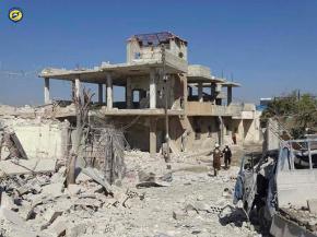 Syria airstrikes kill 22, mostly children, outsideschool