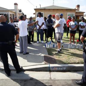 Protesters gather in Los Angeles over fatal police shooting
