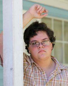 In this Monday, Aug. 22, 2016 file photo, transgender high school student Gavin Grimm poses in front of his home in Gloucester, Va. The Supreme Court will take up transgender rights for the first time in the case of a Virginia school board that wants to prevent Grimm, a transgender teenager from using the boys' bathroom at his high school, Friday, Oct. 28, 2016 . (AP Photo/Steve Helber, File)