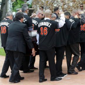 Marlins' Fernandez remembered as larger than life atfuneral