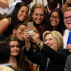 Clinton gaining ground with young voters