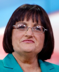 FILE - In this Oct. 20, 2014 file photo, Democratic incumbent U.S. Rep. Annie Kuster, D-N.H. waits before a live televised debate and hosted by NH1 News on WBIN TV,  in Concord, N.H.  Kuster believes Donald Trump's bragging about fame allowing him to force himself on women with neither consent nor consequences during an interview, Thursday, Oct. 13, 2016. She says she experienced just that with a celebrity surgeon who assaulted her decades ago when she was a young staffer on Capitol Hill.(AP Photo/Jim Cole)