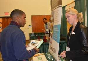 Career Fairs, like those held at Norfolk State University, are an excellent way to obtain job interviews. Photo from Norfolk State University.