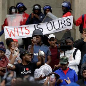 South Africa's university protests show racial division
