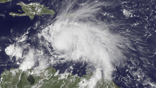 Hurricane Matthew Intensifies Over the Caribbean